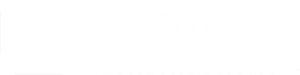 aj pilla constructions logo white